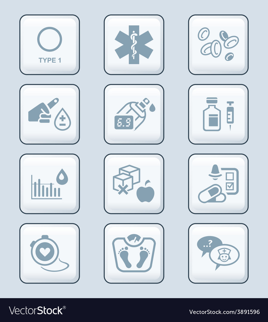 Diabetes icons - tech series vector | Price: 1 Credit (USD $1)