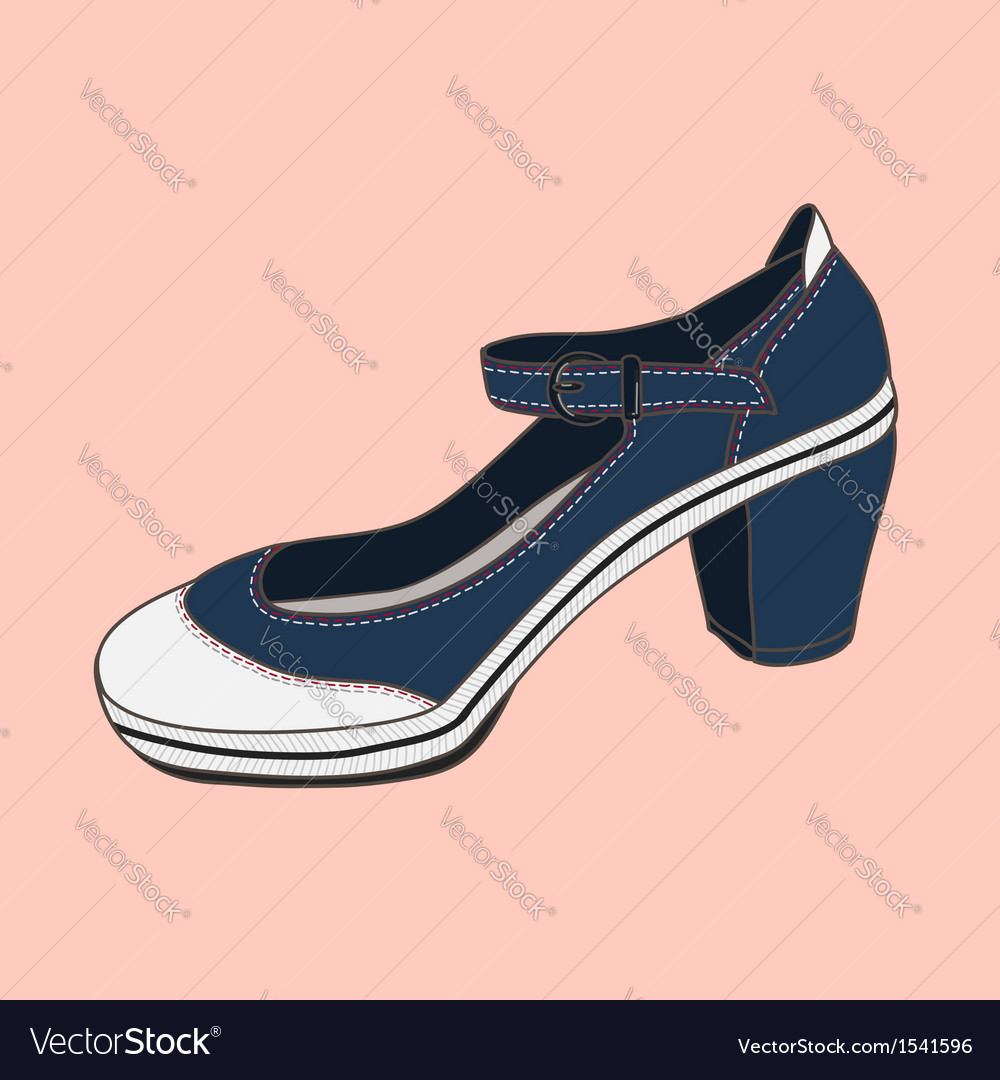 Fashion shoes jeans vector | Price: 1 Credit (USD $1)