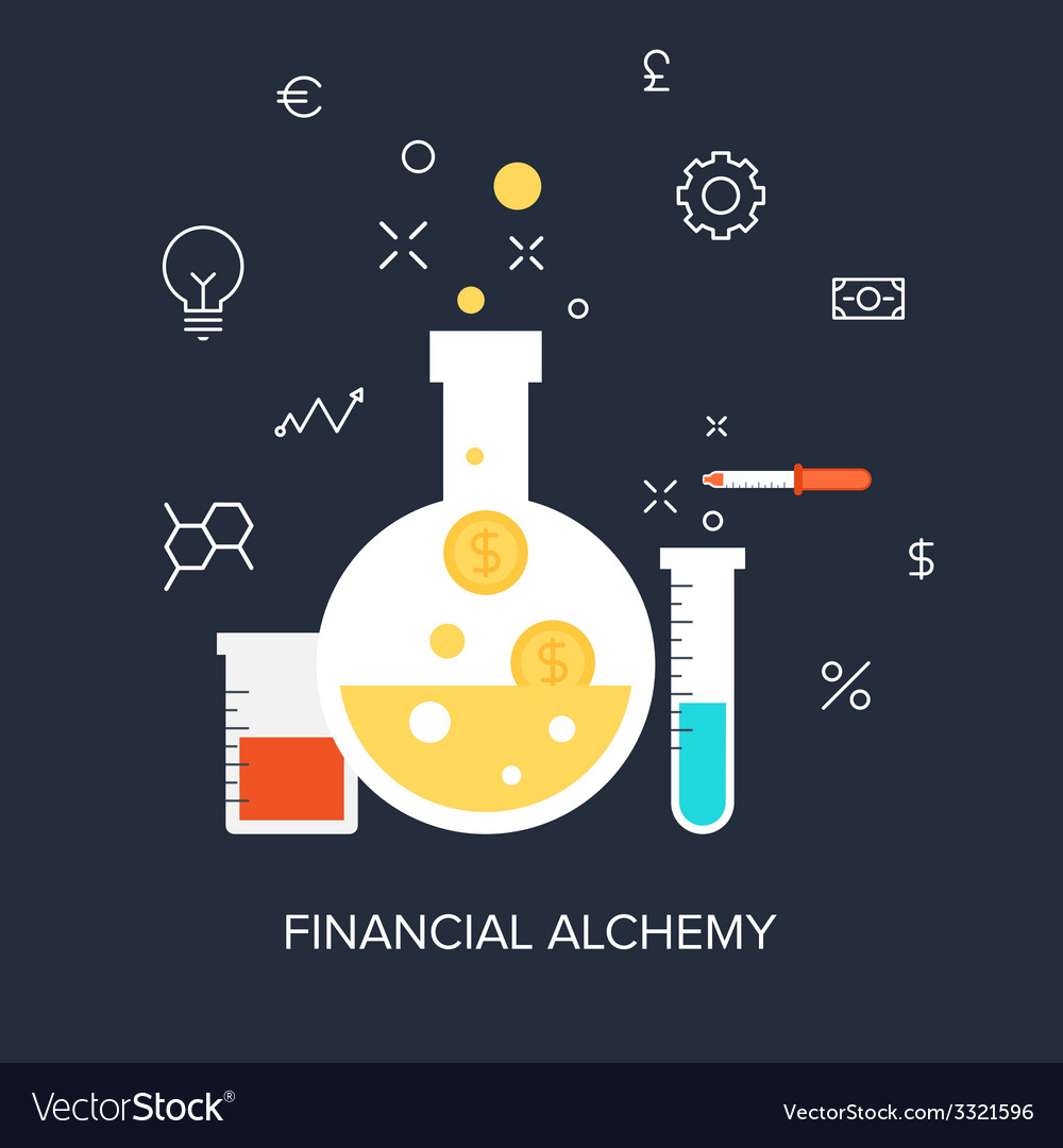 Financial alchemy vector | Price: 1 Credit (USD $1)