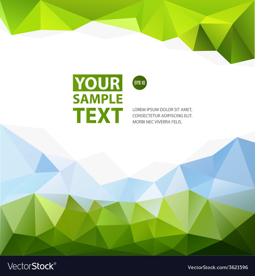 Frame from triangle abstract background with text vector | Price: 1 Credit (USD $1)