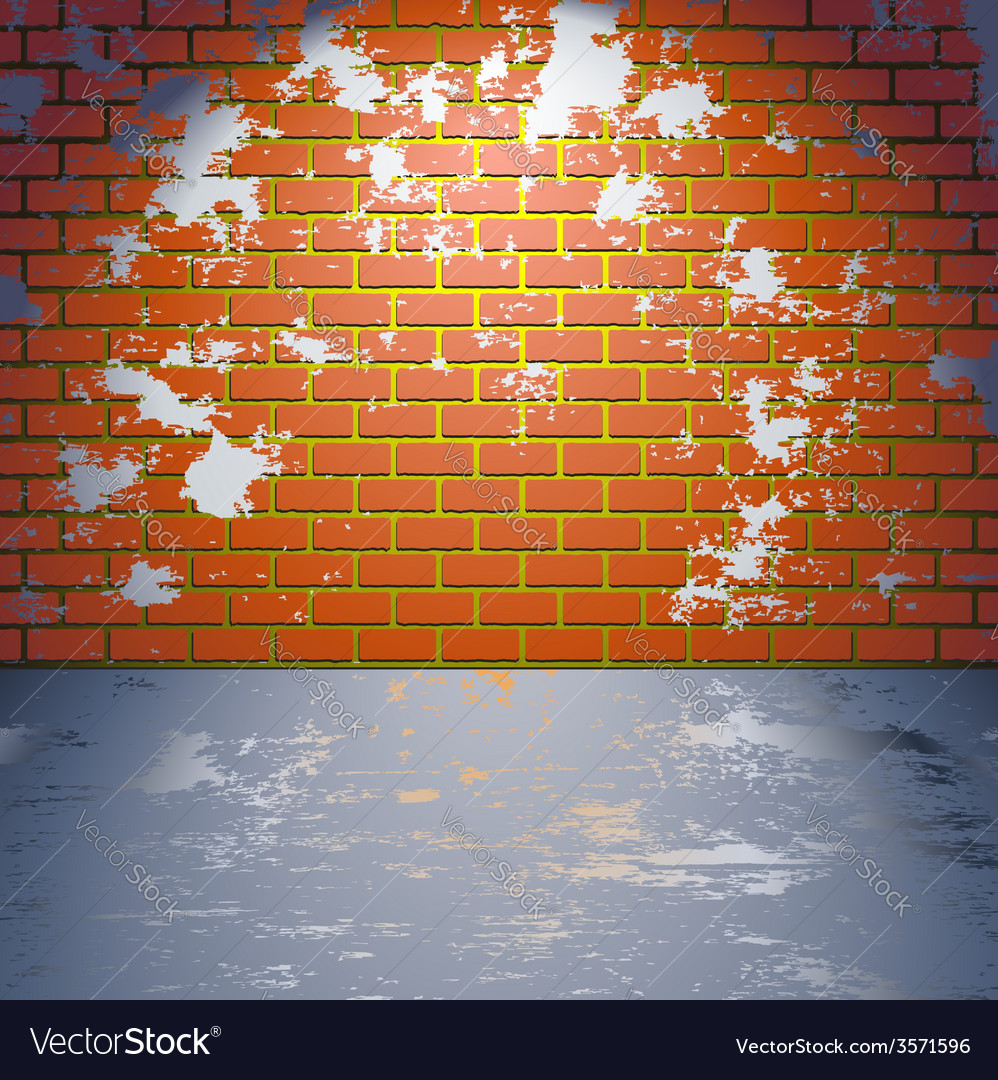 Grungy brick wall vector | Price: 1 Credit (USD $1)
