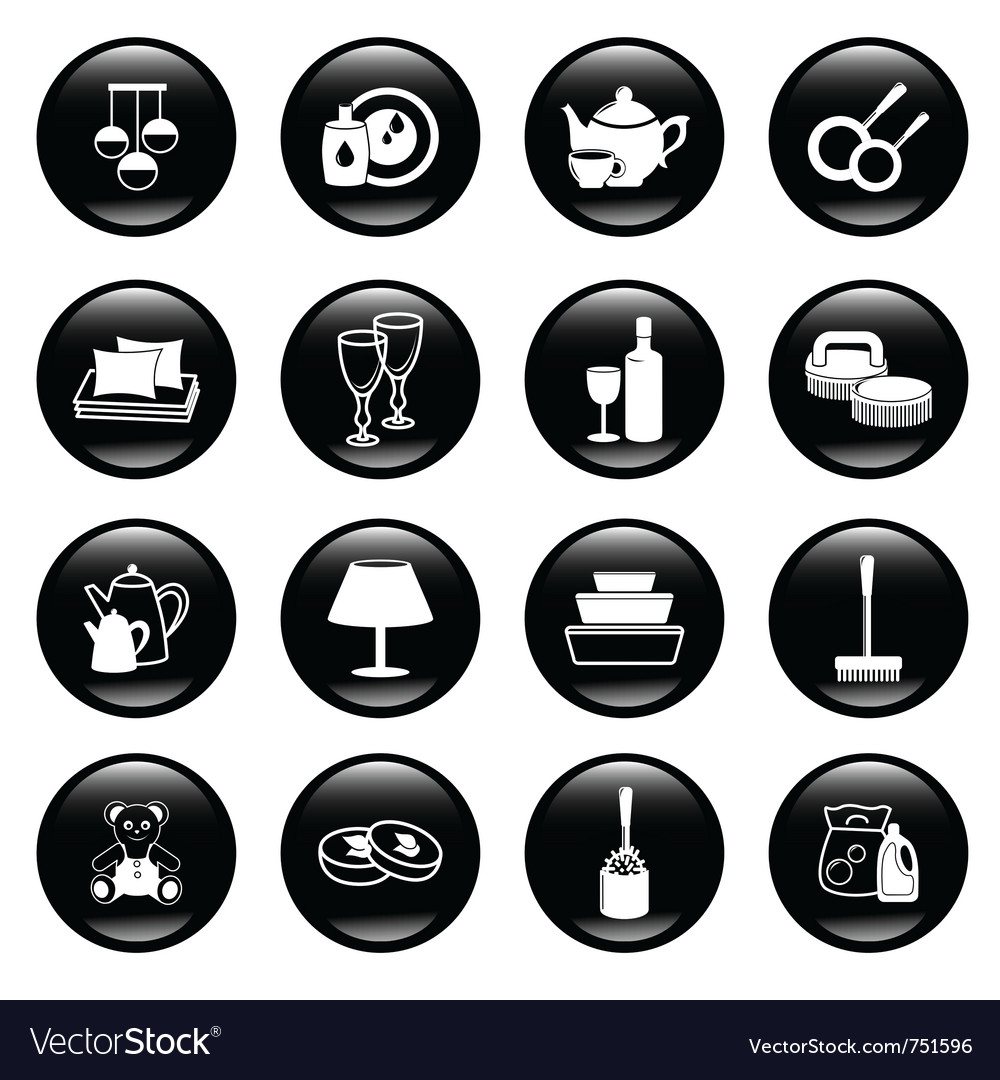 Home work and equipment icons vector | Price: 1 Credit (USD $1)