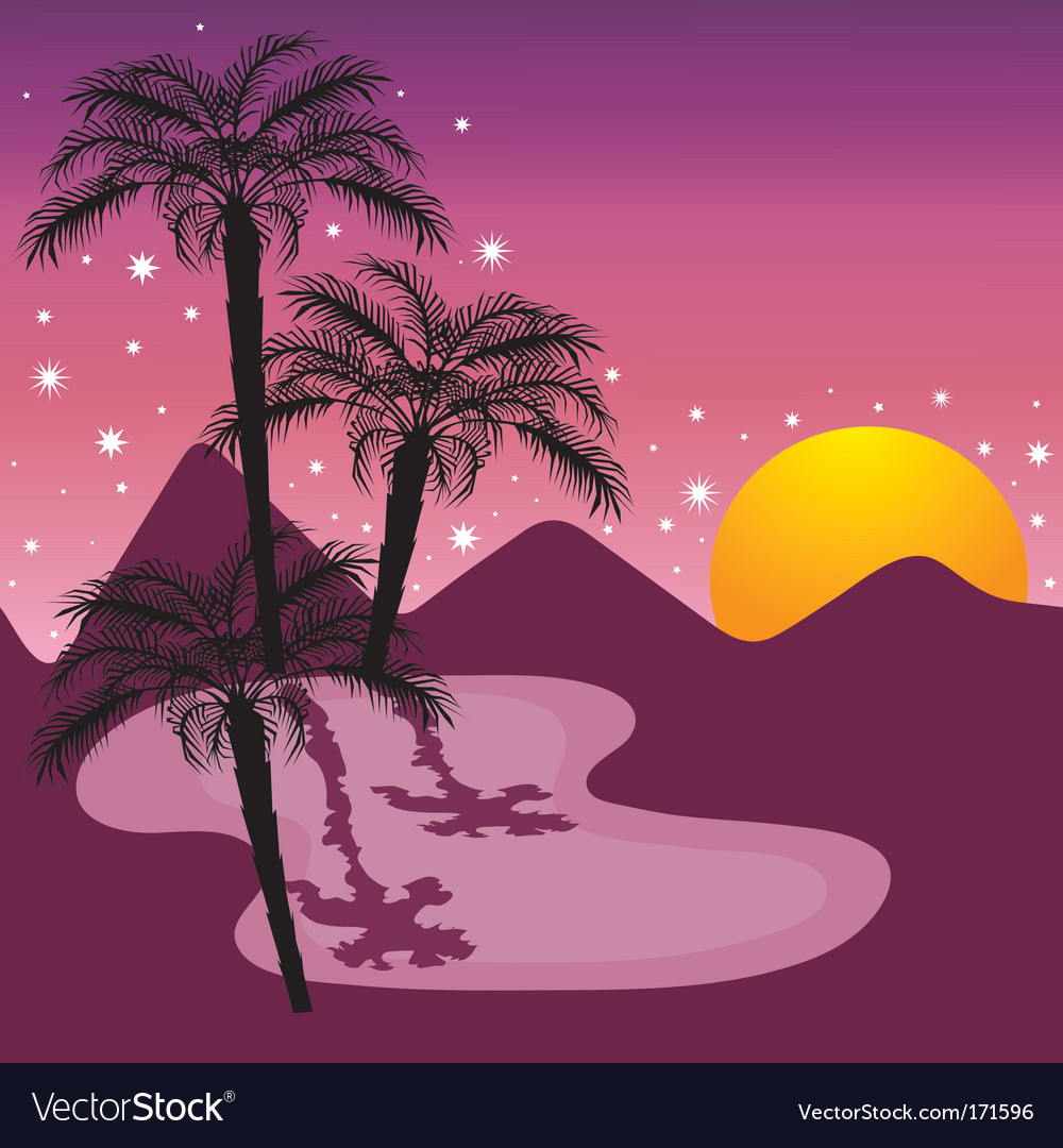 Midnight at the oasis vector | Price: 1 Credit (USD $1)