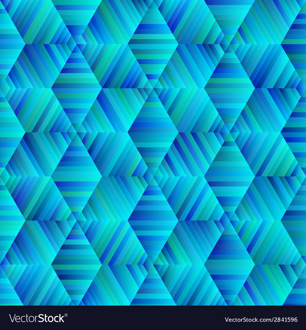 Ornamental hexagonal blue and green pattern vector | Price: 1 Credit (USD $1)