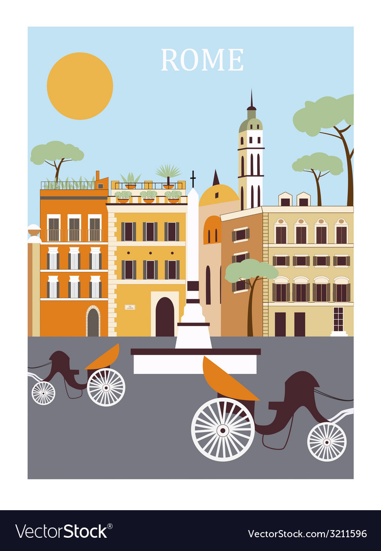 Rome city vector | Price: 1 Credit (USD $1)