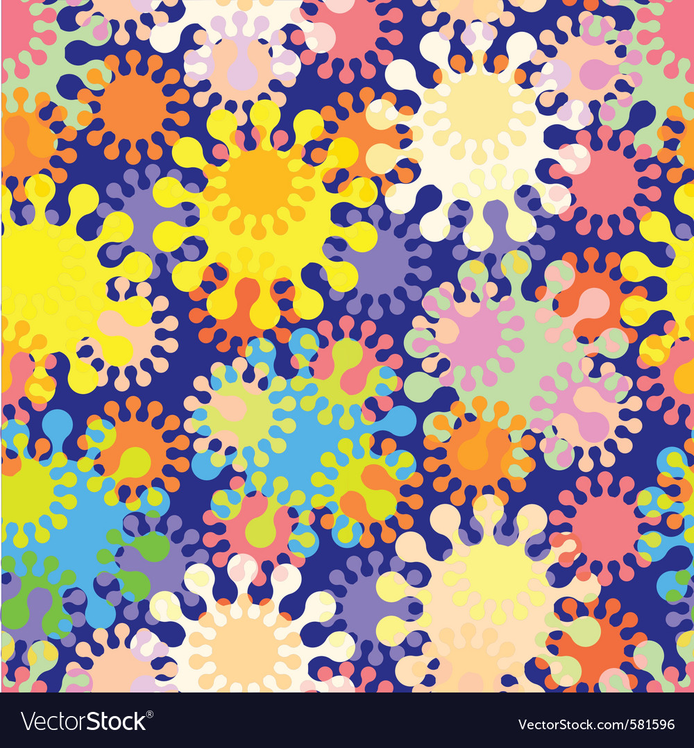 Seamless splat pattern vector