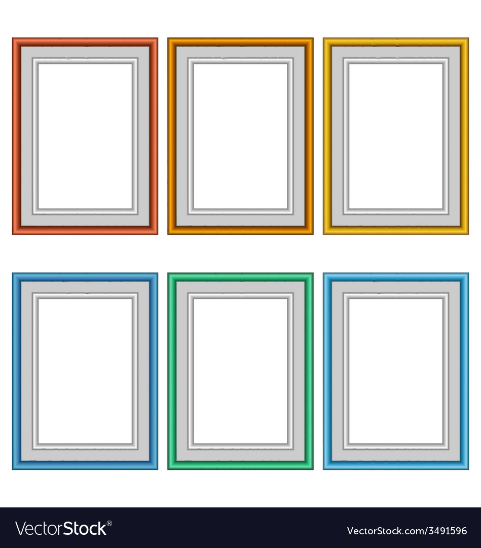 Six frames isolated on white vector | Price: 1 Credit (USD $1)