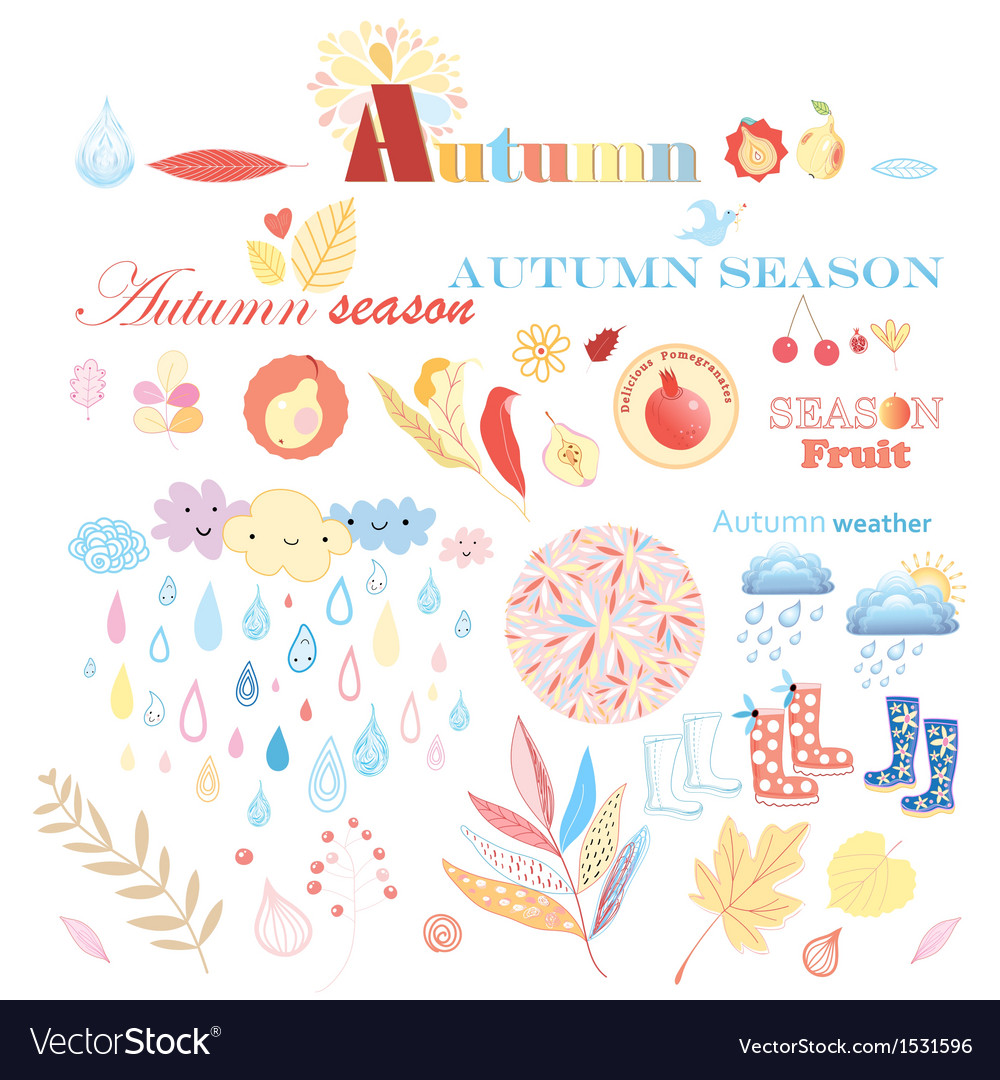 Stok vektor autumn set vector | Price: 3 Credit (USD $3)