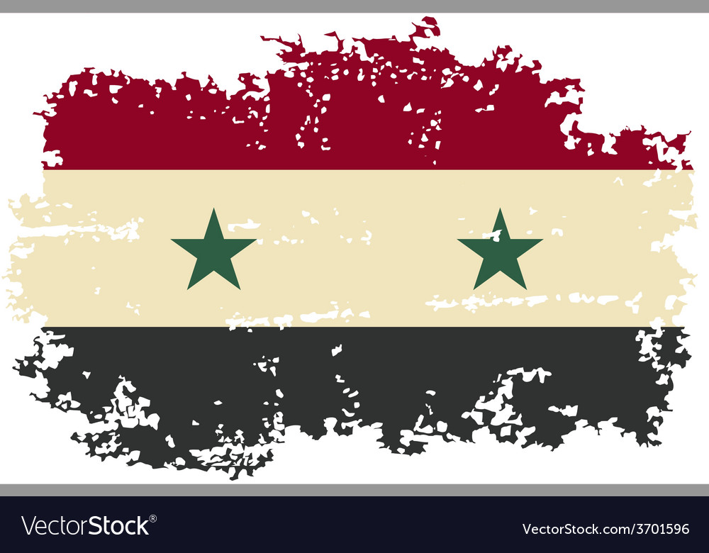 Syria grunge flag vector | Price: 1 Credit (USD $1)