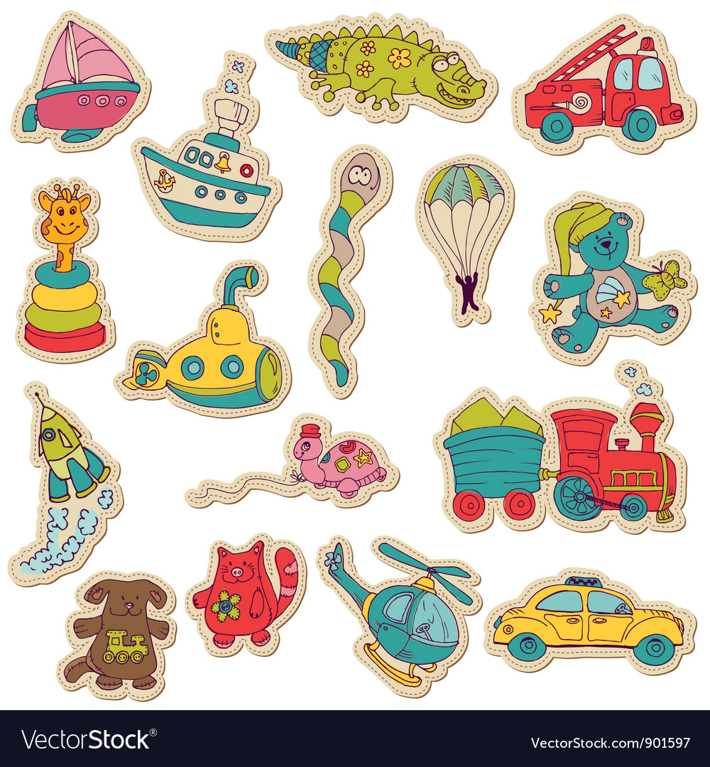 Baby toys stickers vector | Price: 3 Credit (USD $3)