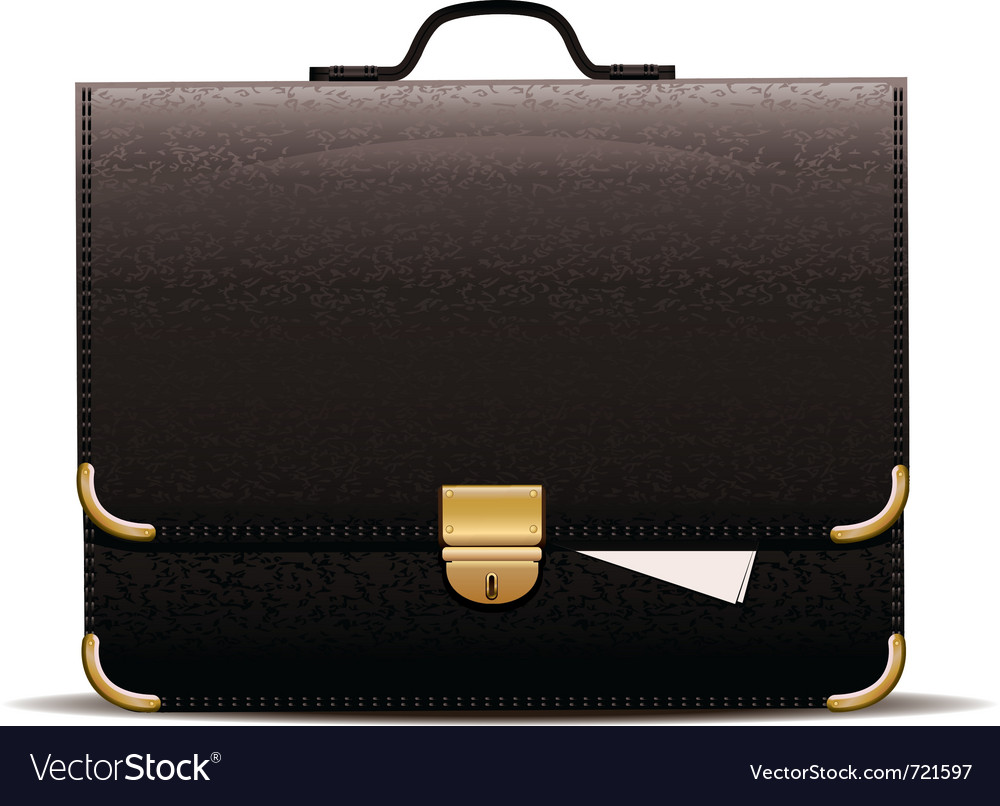 Black leather briefcase vector | Price: 1 Credit (USD $1)