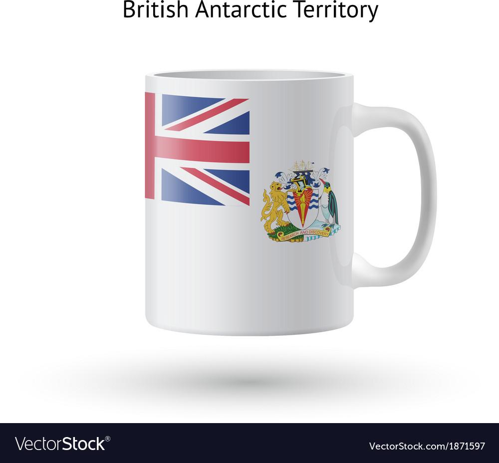British antarctic territory flag souvenir mug on vector | Price: 1 Credit (USD $1)