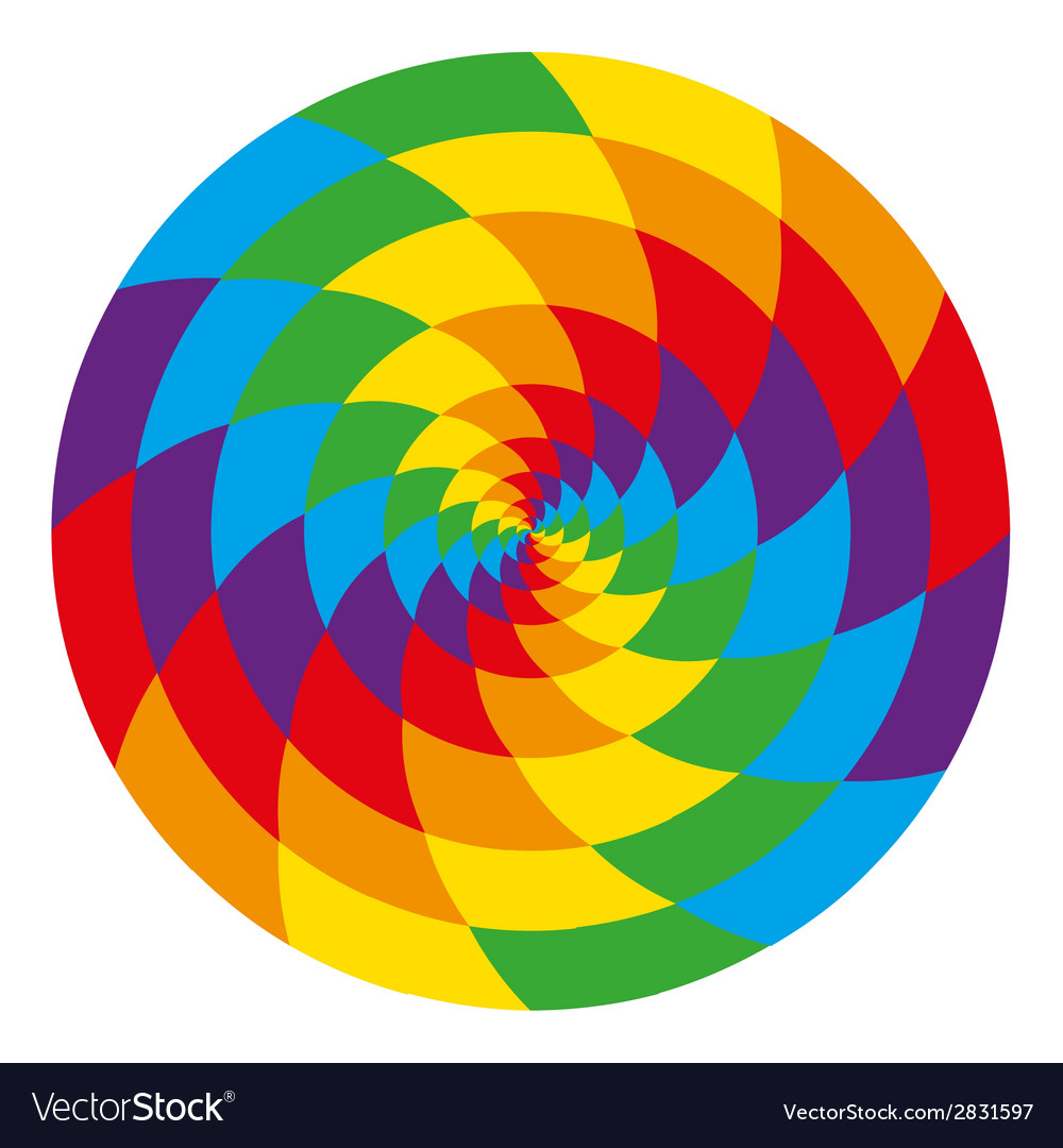 Circle of abstract psychedelic rainbow vector | Price: 1 Credit (USD $1)