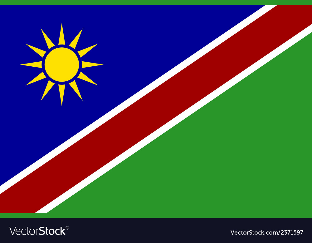 Flag of namibia vector | Price: 1 Credit (USD $1)