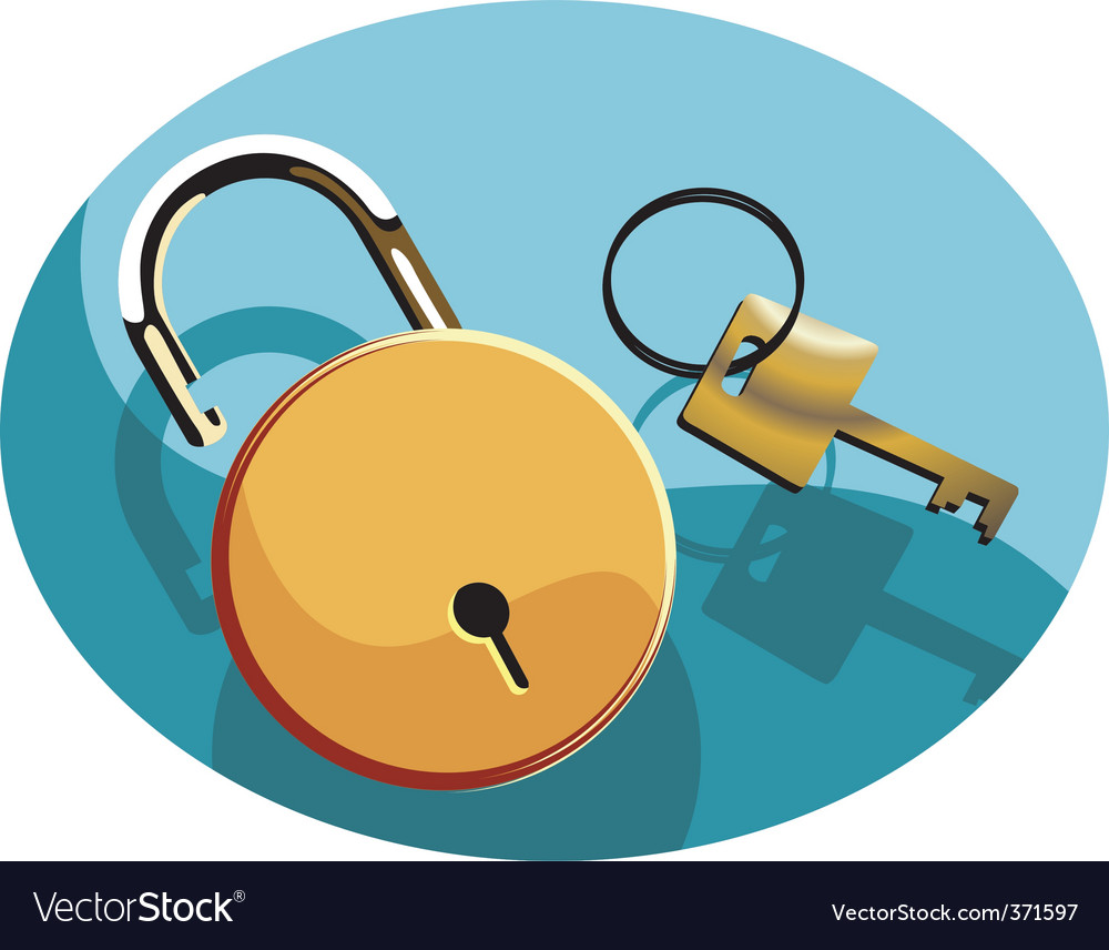 Key and lock vector | Price: 1 Credit (USD $1)