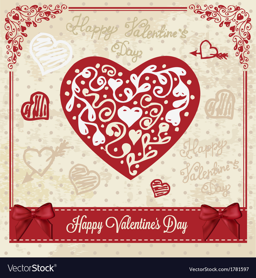 Love vintage card vector | Price: 1 Credit (USD $1)