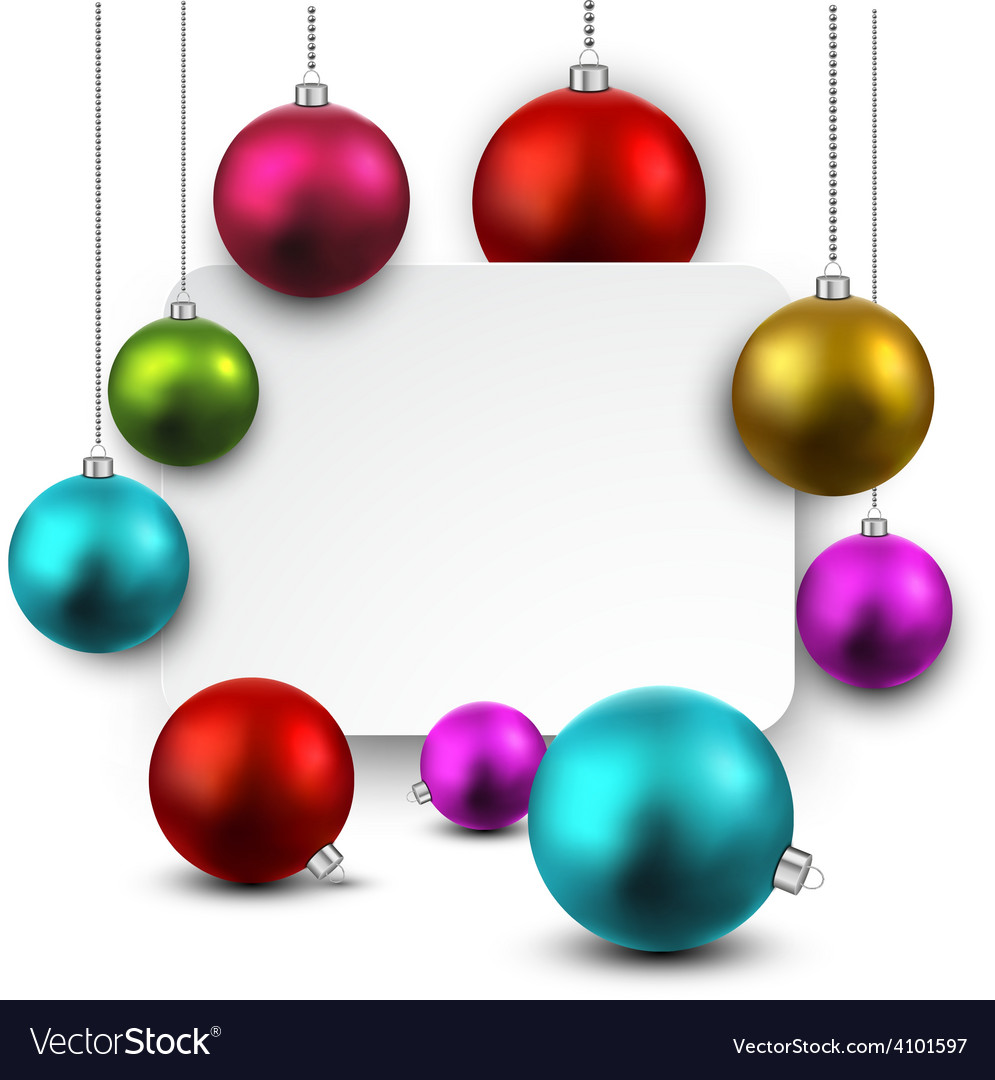 White paper gift card with colorful balls vector   Price: 1 Credit (USD $1)