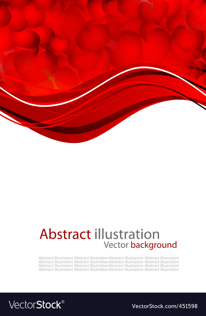 Abstract background with red heart vector | Price: 1 Credit (USD $1)