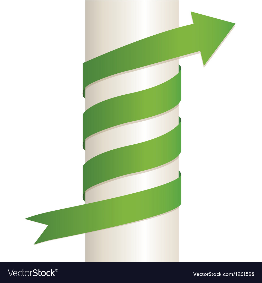Arrow wrapped around the pillar vector | Price: 1 Credit (USD $1)
