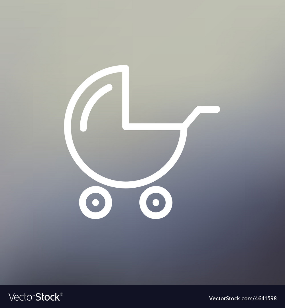 Baby stroller thin line icon vector | Price: 1 Credit (USD $1)