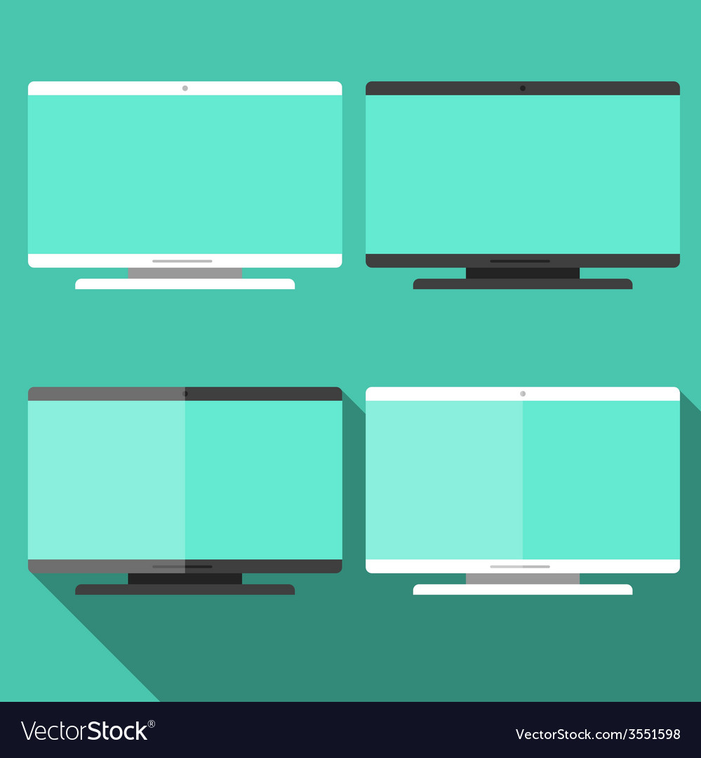 Computer in flat style vector | Price: 1 Credit (USD $1)