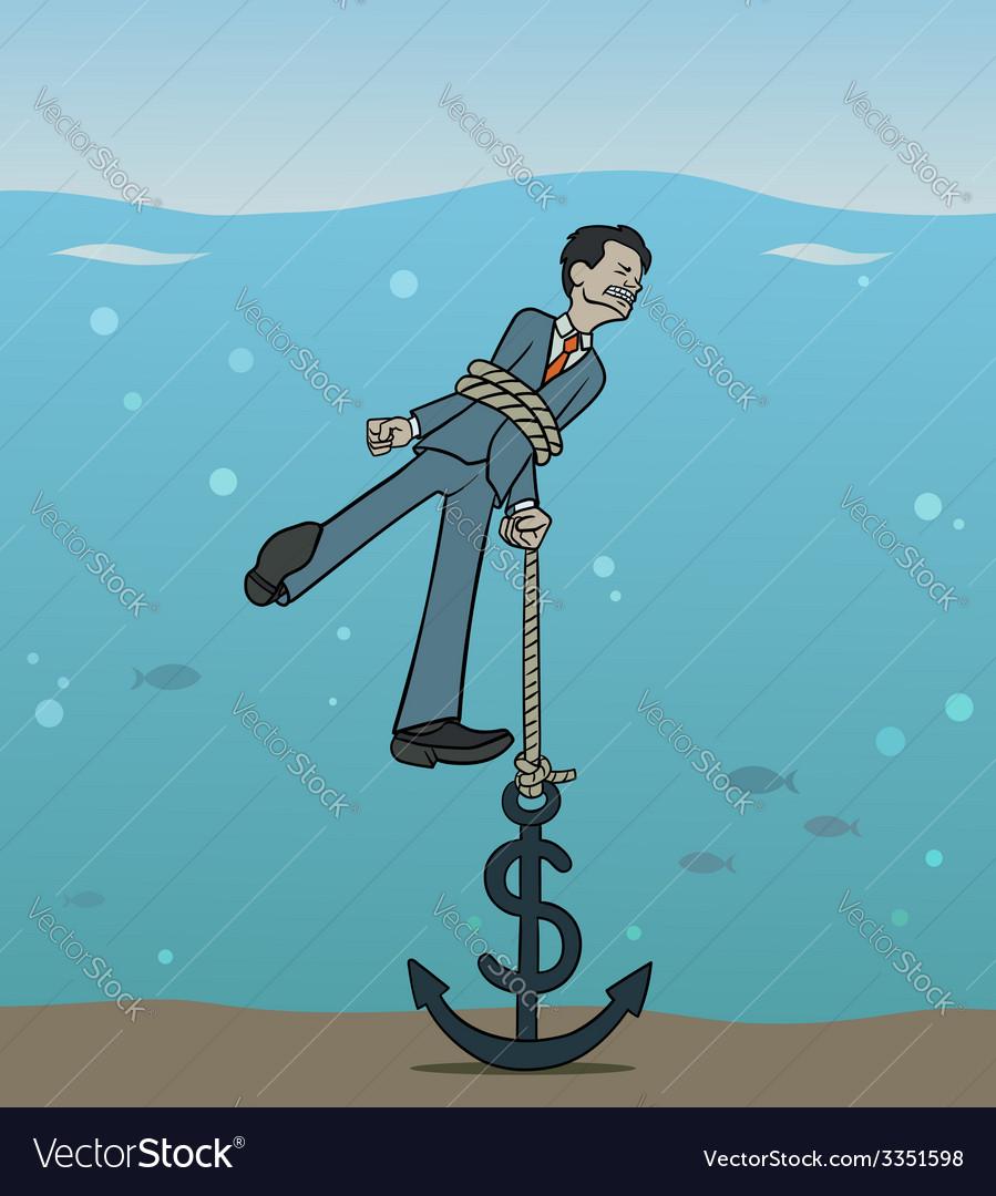 Dollar anchor vector | Price: 1 Credit (USD $1)