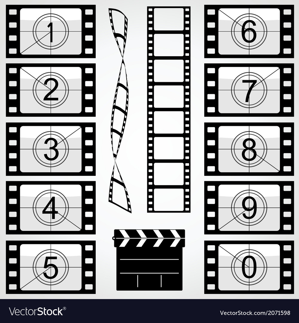 Elements of cinema vector | Price: 1 Credit (USD $1)