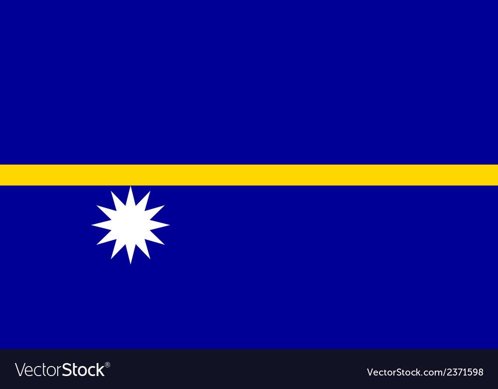 Flag of nauru vector | Price: 1 Credit (USD $1)