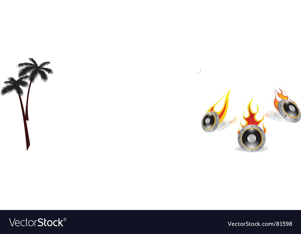 Hot loudspeakers vector | Price: 1 Credit (USD $1)