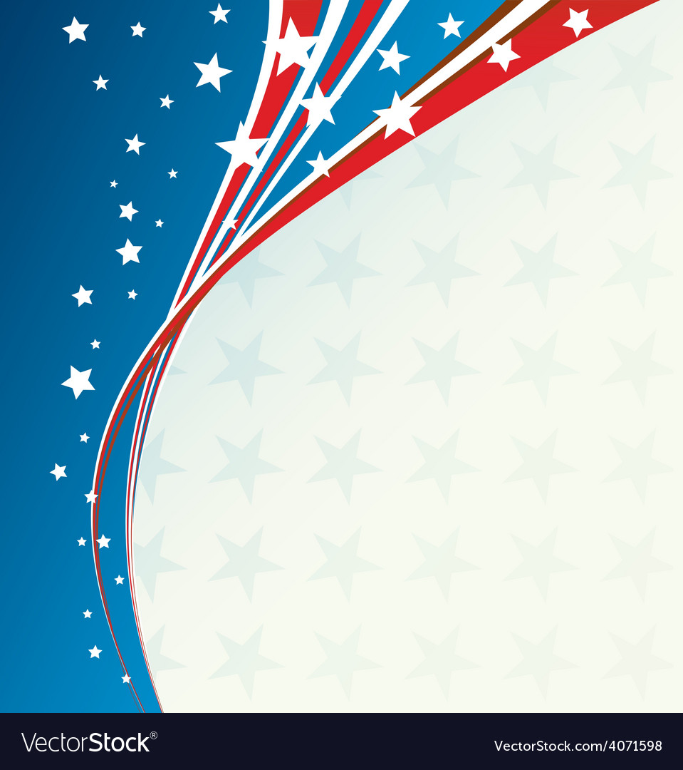 Independence day patriotic background vector | Price: 1 Credit (USD $1)