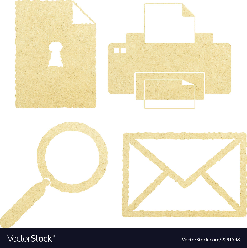 Office paper icon set vector | Price: 1 Credit (USD $1)