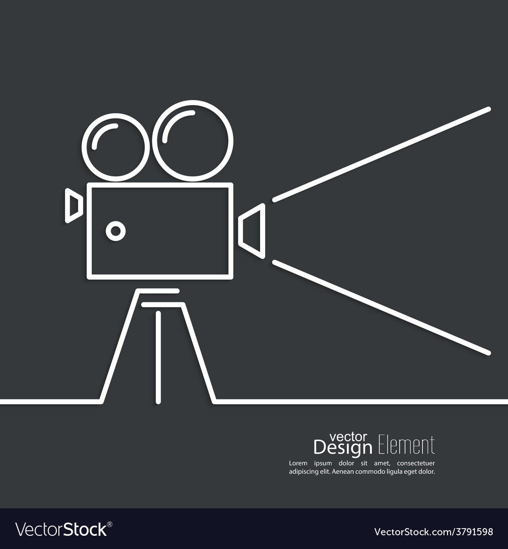 Old movie camera vector   Price: 1 Credit (USD $1)
