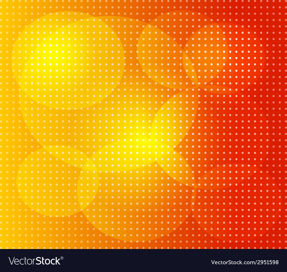 Orange dot background vector