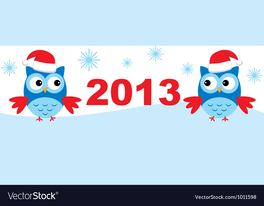 Owls and new year vector   Price: 1 Credit (USD $1)