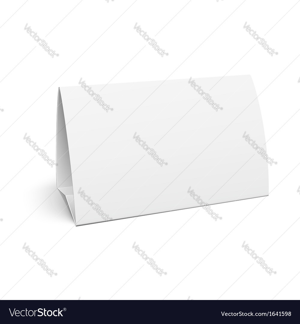Paper table card vector | Price: 1 Credit (USD $1)