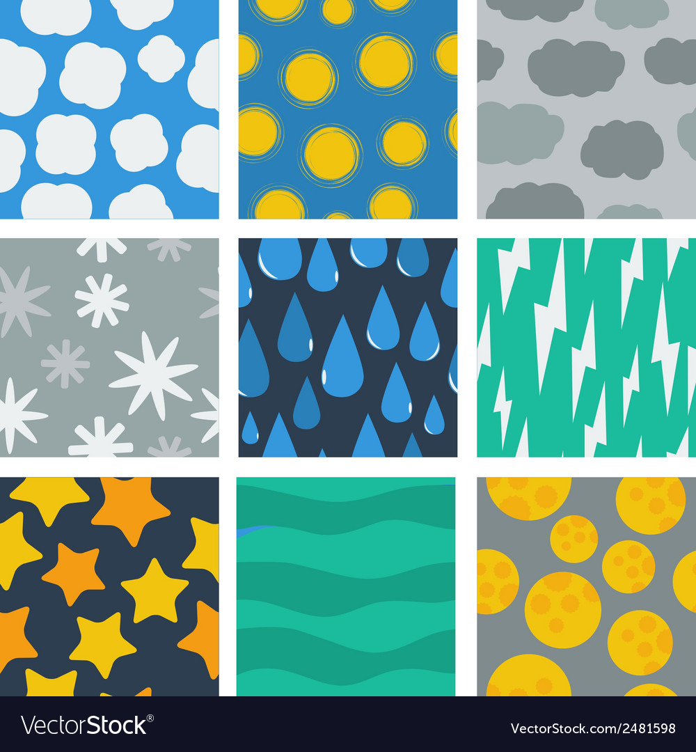 Seamless pattern of weather conditions vector | Price: 1 Credit (USD $1)