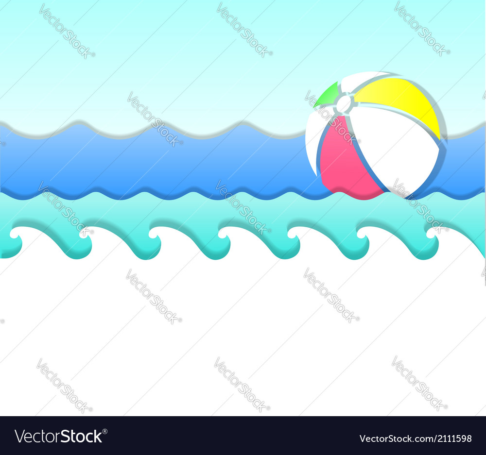 Wave and ball vector | Price: 1 Credit (USD $1)