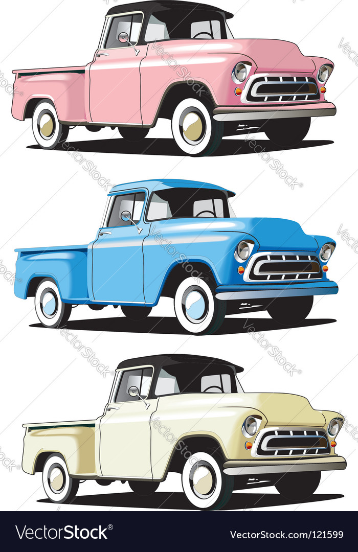 American pickup vector | Price: 1 Credit (USD $1)
