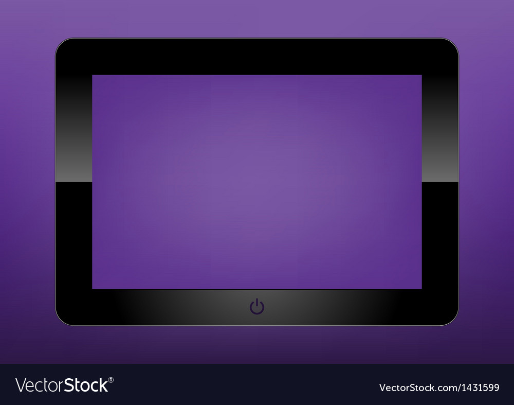Black tablet pc on white background ipade vector | Price: 1 Credit (USD $1)