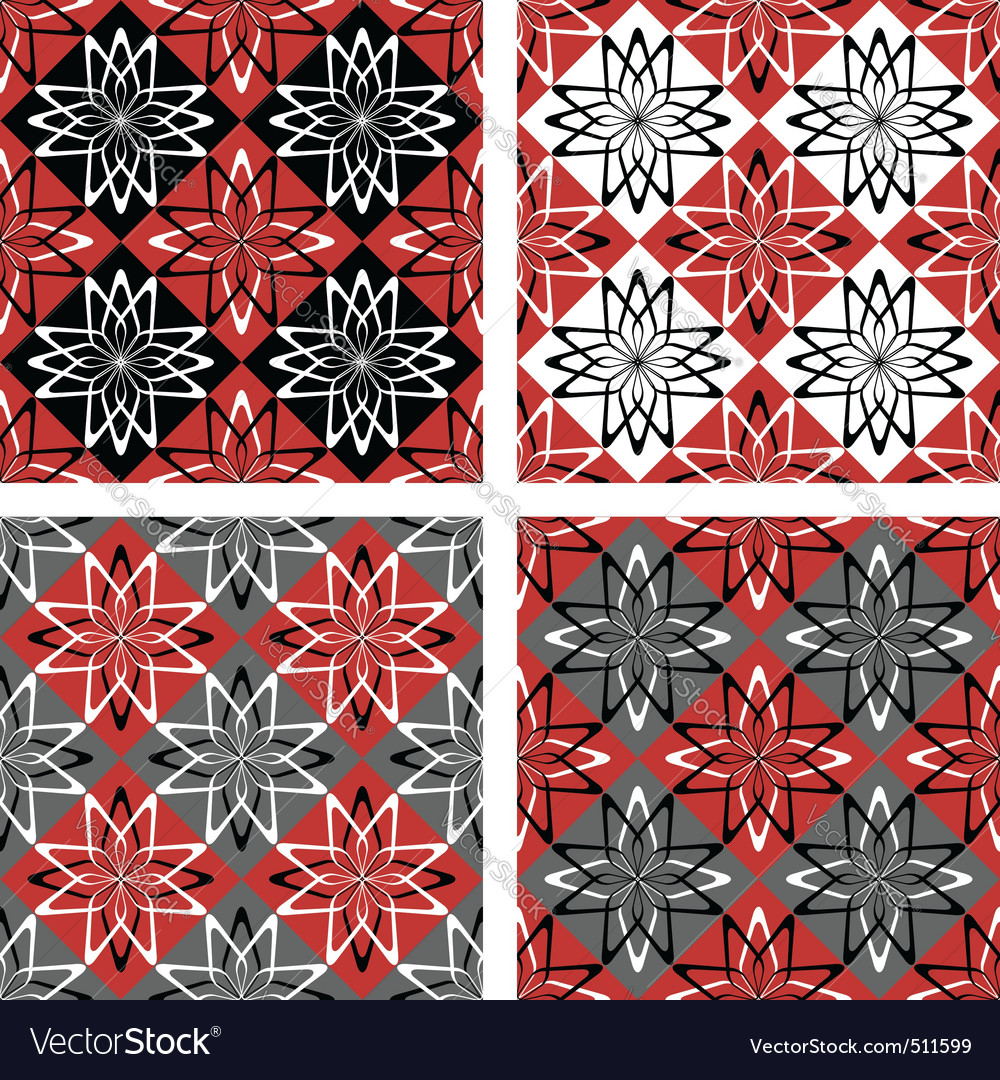 Checkered patterns set vector | Price: 1 Credit (USD $1)
