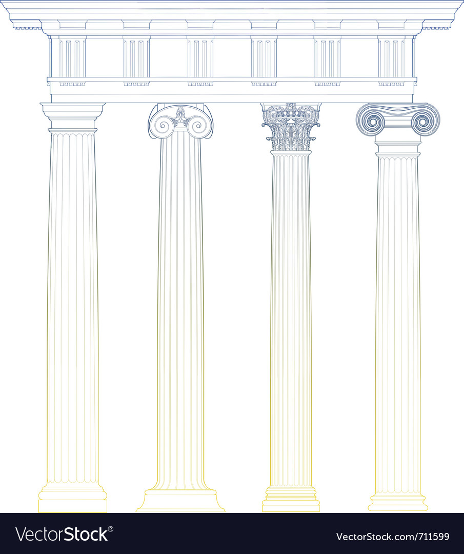Classic columns vector | Price: 1 Credit (USD $1)