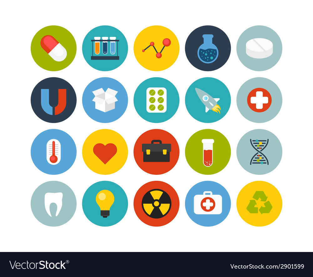 Flat icons set 15 vector | Price: 1 Credit (USD $1)
