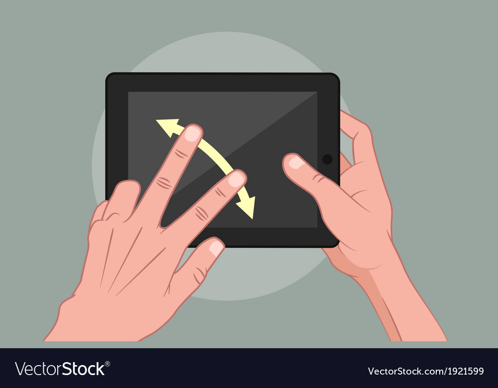 Hands using pad vector | Price: 1 Credit (USD $1)