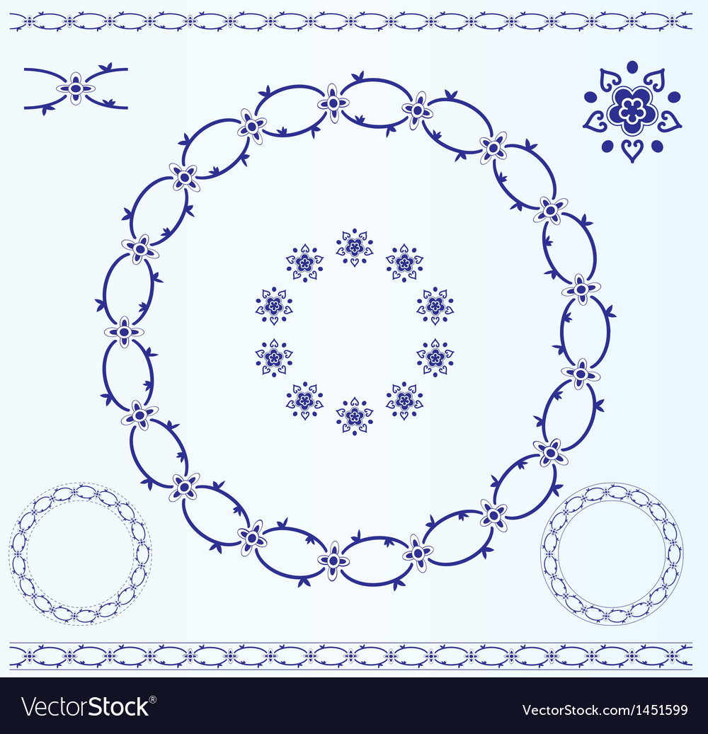 Set of rustic circle frames vector | Price: 1 Credit (USD $1)
