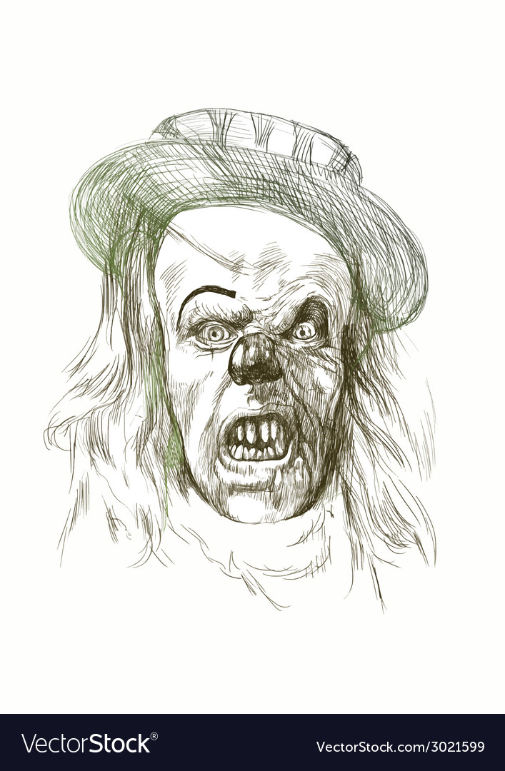 Spooky clown vector   Price: 1 Credit (USD $1)