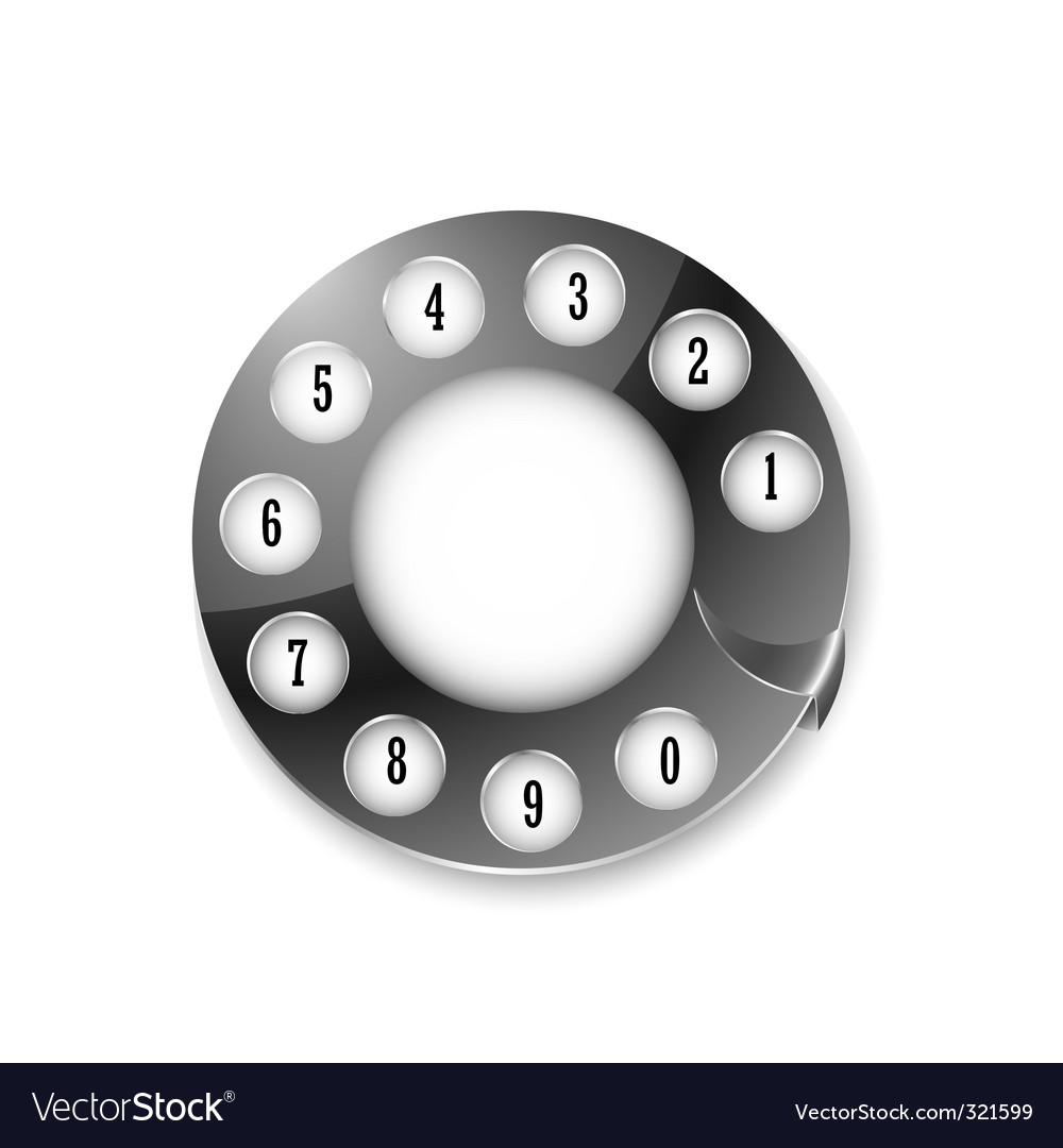 Telephone disk vector | Price: 1 Credit (USD $1)