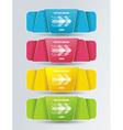 Colorful polygonal origami ribbons vector