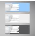 Banner set  colorful line strips vector