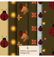 Ladybug pattern set vector