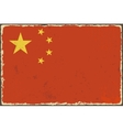 Chinese grunge flag vector